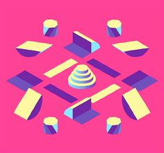 Geometric overload with this animation by Vincent Tsui, created for the Loopdeloop challenge.