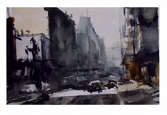 Montevideo Sketch Watercolor , Paez de Pruna