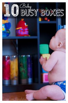 10 of our favorite baby busy box ideas: Busy boxes for babies can provide benefits such as fine motor skills, cognitive reasoning, and language development.