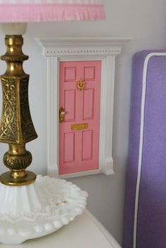 Tooth fairy door.