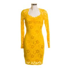 Long Sleeve Square Lace Dress   Debra Chigwell