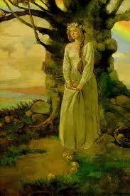 IDUN-Deusa da saúde e mulher de Bragi, deus da poesia.  Ela é responsável pela saúde dos deuses, que precisavam comer uma maçã por dia, vinda de seu cofre de madeira de freixo, para manterem sua juventude e força.
