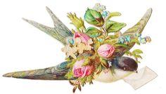 Vintage Tags, Bluebird Vintage, Victorian Valentines, Collage Sheet, Blue Bird, Pet Birds, Decoupage, Clip Art, Sparrows