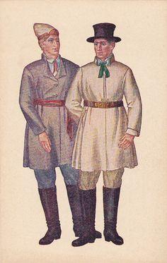 Postcard, Latvia, National Costumes by Ansis Cirulis, VENTINS, 1926