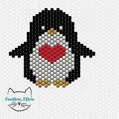 Bon, je retire ce que j'ai dit hier, le pingouin n'est pas cucu, il est mignon! merci pour vos gentils commentaires, comme toujours, ça me fait très plaisir ! Amusez vous bien... #jenfiledesperlesetjassume #perle #perlesaddict #beadpattern #beads #diagrammeperles #diagramme #penguin #pingouin #coeur #heart #motifpauline_eline #miyukibeads #miyuki #brickstitch