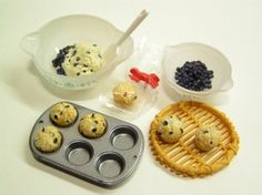 Re ment Kitchen Let's Cooking Making Dessert Cake Pudding Punch Cookies F s 10   eBay