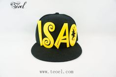 Personalized Snapback Baseball Cap Kind Size/Adult Size          Our hats can be personalized and embroidered with your name or any other word (up to 6 letters) in red, white, black,yellow,orange and blue letter. The hat color is only black. It will take up to one week exclude weekends and holidays to handmade it for you .   Free Shipping Worldwide!
