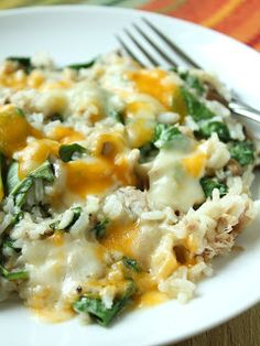 Delicious as it Looks: Tuna Rice Casserole with Spinach