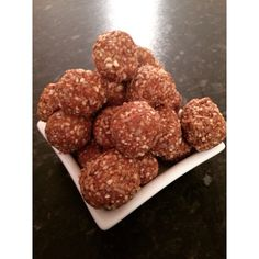 Cashew coconut protein bliss balls. Fabulous for sweet treat or sports snack.