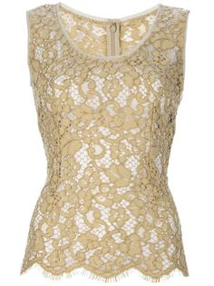 Dolce and Gabbana Sleeveless Lace Top