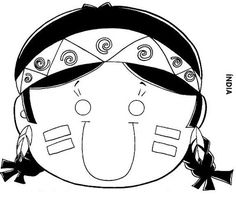 Baú da Web: Máscaras de Índio para imprimir e colorir
