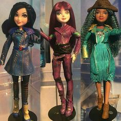 Disney's 2017 Descendants 2 Signature Fashion Dolls Evie the Daughter of the Evil Queen, Mel the Daughter of Malificent, & Umma the Daughter of Ursula