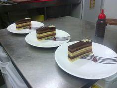 Opera cake with candied hazelnut