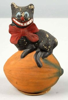 german candy containers | German Cat on a Squash Candy Container | Halloween !!!