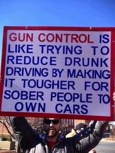 Gun control is like castrateting all men to prevent abortion.