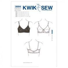 Kwik Sew Ladies Sewing Pattern 3594 Lingerie Bra | Sewing | Patterns | Minerva Crafts