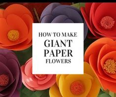 Feels like Spring? Then you need to make these giant flowers! This video shows you how to make thesepaper flowers that will be the talk of any party that you are hosting. The steps by Robert Mahar…