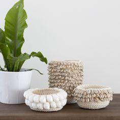 Crochet Cowrie Shell Basket – AU FAIT LIVING