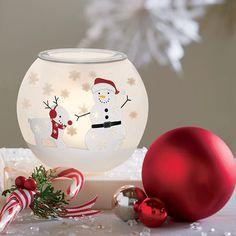 Teelichthalter Schneegestöber