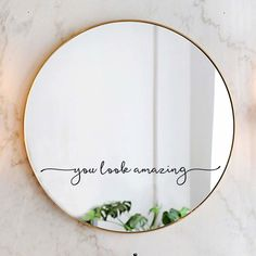 Mirror Vinyl, Mirror Stickers, Painted Mirrors, Decorative Mirrors, Mirror Painting, Mirror Art, Wall Sticker, Vinyl Decals, Youre Like Really Pretty