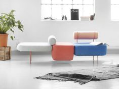 Hoff The Hoff is a playful, colourful and modular sofa. Created through a custom - made textile collaboration between by Kioshi yamamoto and Morten Jonas. Mix and match different sizes and colours to get the look you desire. Milan Furniture, Sofa Furniture, Living Room Furniture, Furniture Design, Luxury Furniture, Farmhouse Furniture, Green Furniture, Simple Furniture, Furniture Showroom