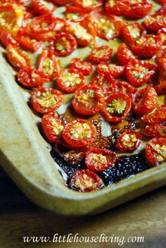 I cannot wait until I have fresh tomatoes again so I can make some of my favorite sun dried tomatoes. These are the BEST!