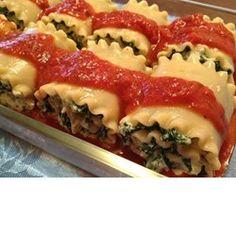 Spinach Lasagna Roll Ups - Allrecipes.com