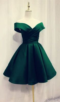 Off Shoulder Satin Prom Dress, Mini Prom Party Dress Our Email Addre. -Charming Off Shoulder Satin Prom Dress, Mini Prom Party Dress Our Email Addre. Green Homecoming Dresses, Hoco Dresses, Prom Party Dresses, Evening Dresses, Prom Dress, Emerald Homecoming Dress, Sexy Dresses, Summer Dresses, Wedding Dresses