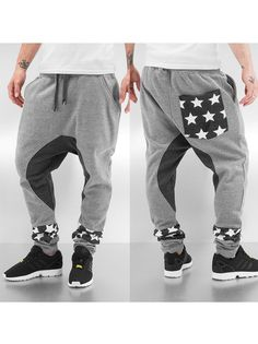 Stars II Sweat Pants Grey - Just Rhyse - Urban City - skateshop, streetwear, Hip Hop odzież z USA, Europy i Polski