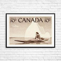 Iceberg print iceberg art Native Canadian Inuit by CanadaStampArt Native Canadian, Canadian Art, Old Stamps, Kayak Paddle, Historical Art, Stamp Collecting, Poster Size Prints, Postage Stamps, Kayaking