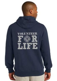 Volunteer Firefighter For Life Hoodie | Shared by LION