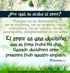 Por que se acaba el amor?
