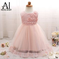 Girl Dress Sequins Pageant Party Baby Kid Clothing Flower Baby Girl Christening Gowns For Toddler Girls Birthday Clothes Flower Girls, Cute Flower Girl Dresses, Baby Girl Party Dresses, Birthday Dresses, Little Girl Dresses, Girls Dresses, 1 Year Baby Dress, Dress Party, Baby Girl Christening Gowns