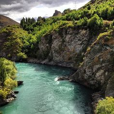 The gorge at Kawarau Bridge, New Zealand. A beautiful setting for a Valentine's Day bungee jump!