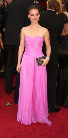 Natalie Portman - Oscars 2009 - Rodarte: I'm not a fan of pink or the sweetheart cut, but she rocked this dress.
