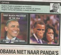 """Belgian newspaper De Morgen has published pictures of US President Barack Obama and First Lady Michelle Obama depicted as apes""-IT'S NOT ABOUT FREEDOM OF SPEECH & YOU ALL KNOW IT!  It is a raciest way of ""Flipping a script"", however, to whine about freedom of speech versus dealing with the true issues proves that there is a real problem in the USA and the World! @Breitbart News"