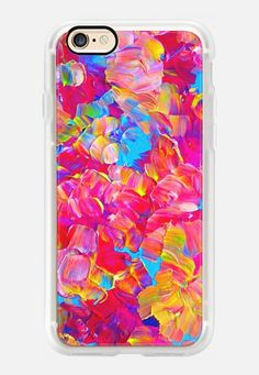 Casetify iPhone 7 Case and Other iPhone Covers - FLORAL FANTASY - Bold Abstract Flowers Acrylic Texture by Ebi Emporium | #Casetify