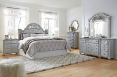 Fall in love with the Zolena Champagne 9 Pc.Queen Poster Storage Bedroom Collection by Signature Design by Ashley at Direct Value Furniture proudly serving Roscoe, IL and surrounding areas for over 10 years! King Bedroom Sets, Ashley Furniture, Bedroom Collection, Affordable Furniture, Royal Furniture, Furniture, Ashley Furniture Homestore, Bedroom Posters, Home Decor