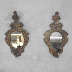 These Italian sconces are remarkable illustrations of old world lighting techniques, bound to create an elegant design element to any staircase or hallway. #chateaudomingue #lighting #antiques