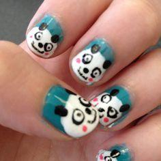 Pandas! Nail Art, Nails, Pandas, Finger Nails, Ongles, Nail Arts, Nail Art Designs, Nail, Nail Manicure