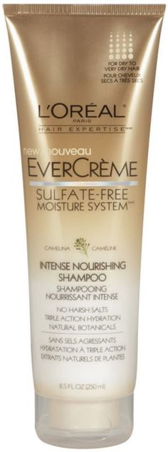 L'Oréal EverCreme Intense Nourishing Shampoo - I've tried a few sulfate-free shampoos and conditioners and this is still my favorite. I'm a conditioner junkie (very thick, somewhat coarse hair) and I still don't need to use conditioner after this shampoo half the time.