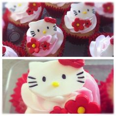 - Hellow Kitty Fondant toppers on buttercream