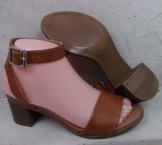 44927e0f06ae Steve Madden Womens Kemmy Tan Smooth Leather Sandals Heels Shoes size 6 M   fashion