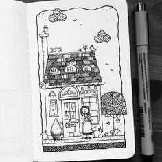 Dave Garbot — Ms L's Cafe & Coffee #illustration #drawing...