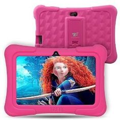 Dragon Touch Plus 7 inch Kids Tablet 2017 Disney Edition, Quad Core CPU, Android Lollipop, IPS Display, Kidoz Pre-Installed w/ Bon. Best Tablet For Kids, Kids Tablet, Tablet 7, Quad, Ww2 German, Pc Android, Cool Gifts For Kids, Game App, Computer Accessories