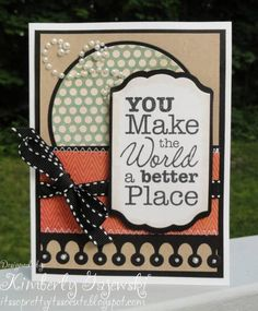Playing Catch Up! My Favorite Things - Vertical Greetings  Paper: MME, Black and Kraft Card Stock  Ink: Memento Tuxedo Black  Accessories: Die-namics, Ribbon, Pearls, Foam Squares