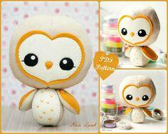 PDF. Barn owl  Plush Doll Pattern.  Softie Pattern door Noialand, $7.00