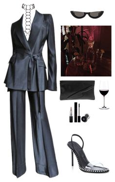 A fashion look from October 2017 featuring black sandals, man bag and body chain jewellery. Browse and shop related looks. Kpop Fashion Outfits, Stage Outfits, Edgy Outfits, Mode Outfits, Classy Outfits, Mode Kpop, Look Fashion, Fashion Design, Elegant Outfit