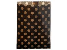 24 schwarze Kraftpapiertüten gepunktet 13 x ...