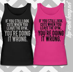 You're Doing It Wrong - Glitter Workout Gym Tank